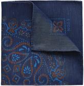 Eton Men's Linen-Silk Paisley Pocket Square