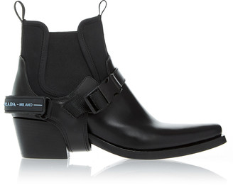 Prada Western Leather Ankle Boot