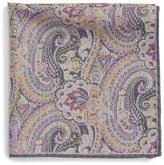 Robert Talbott Paisley Floral Wool Pocket Square