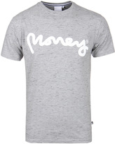 Money Signature Ape Light Grey Slub Crew Neck T-shirt