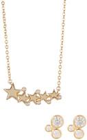 Melinda Maria CZ Jasmine Studs & Celestial Necklace Set