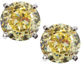 CZ by Kenneth Jay Lane Round Cubic Zirconia Stud Earrings, Yellow
