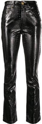 Chiara Ferragni Snakeskin Effect Trousers