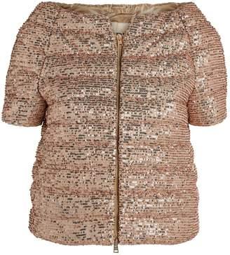 Herno Short-Sleeved Sequin Jacket
