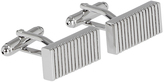 Oxford Cufflinks Bar/Stripe Silv/Ppl X