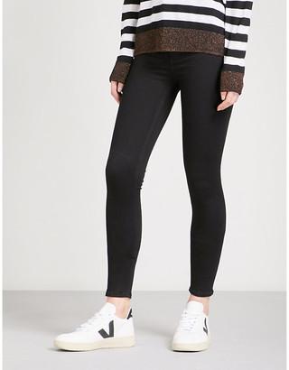 Rag & Bone Ladies Black Branded Concealed Zip Skinny High-Rise Jeans