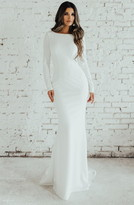 Wasson Cowl Back Crepe Gown