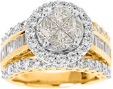 JCPenney MODERN BRIDE Harmony Eternally in Love 3 CT. T.W. Certified Diamond 14K Gold Bridal Ring