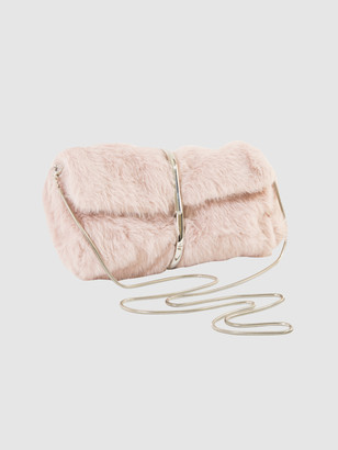 Area Stars Faux Fur Half Flap Shoulder Bag