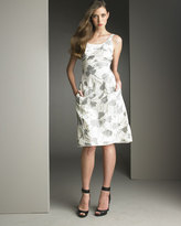 Piped Floral Dress