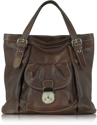 Robe Di Firenze Dark Brown Italian Leather Tote