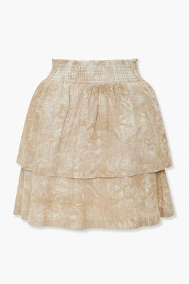 Forever 21 Tiered Mineral Wash Mini Skirt