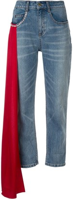 Hellessy Cropped Side Panel Jeans