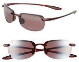 Maui Jim Women's Sandy Beach 56Mm Polarizedplus2 Rimless Sunglasses - Tortoise