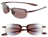 Maui Jim Women's 'Sandy Beach' 56Mm Sunglasses - Tortoise