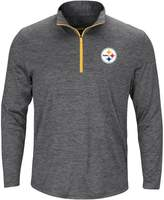 Majestic Big & Tall Pittsburgh Steelers 1/4-Zip Pullover