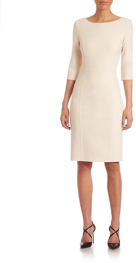 Thumbnail for your product : Carolina Herrera Double-Face Sheath Dress