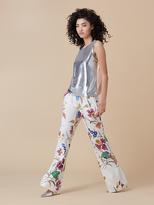 Diane von Furstenberg Floral Wide Leg Pant