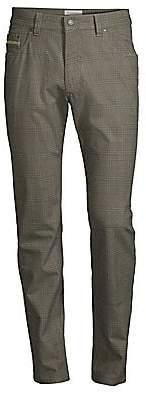 Bugatti Men's Modern Glen Check Five-Pocket Pants