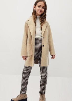 MANGO Lapelled straight-cut coat