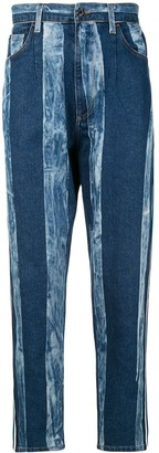 Dolce & Gabbana Striped Washed Effect Jeans