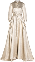 Carolina Herrera Belted Trench Gown