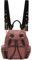 Burberry Pink Small Nylon Rucksack