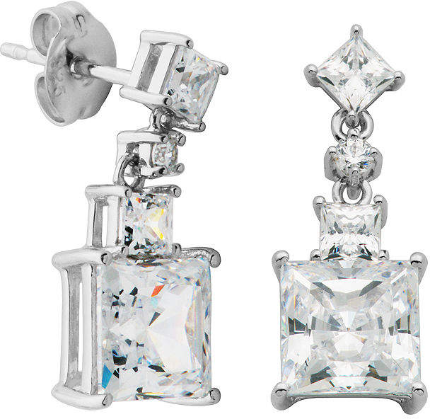 8c1addf86 Cubic Zirconia Square Drop Earrings - ShopStyle