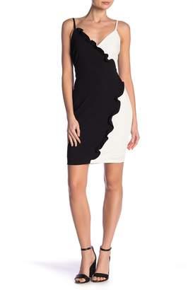 Bebe Colorblock Ruffle Dress