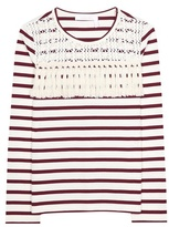 See by Chloe Striped Cotton Top