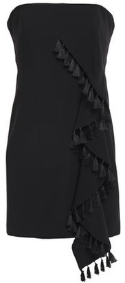 Cinq à Sept Nat Strapless Tassel-trimmed Ruffled Crepe Mini Dress