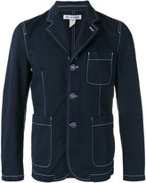 Comme des Garcons contrast stitch blazer - men - Cotton - L
