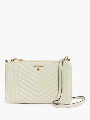 Michael Kors MICHAEL Jet Set Travel Quilted Leather Double Pouch Cross Body Bag