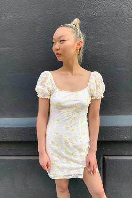 Haute Rogue Daisy Scoop Neck Mini Dress