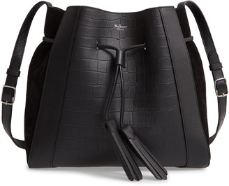 Mulberry Small Millie Matte Croc Embossed Leather Tote