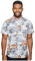 VISSLA Misty Mountain Short Sleeve Printed Woven Top Men's Clothing
