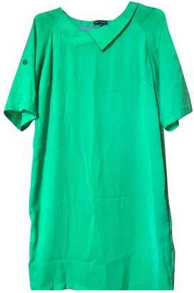 Green Cotton Non Signé / Unsigned Non Signe / Unsigned Dress for Women
