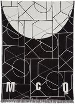 McQ by Alexander McQueen Black & Off-White Geometric Scarf