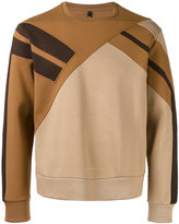 Neil Barrett pannelled sweatshirt - men - Cotton/Polyurethane/Spandex/Elastane/Viscose - XS