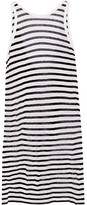 Alexander Wang Striped Jersey Dress - Ivory