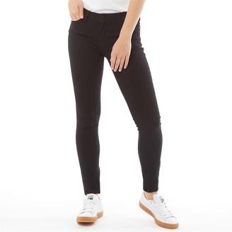 Jacqueline De Yong Womens Jake Life Skinny Regular Unwashed Denim Jeans Black