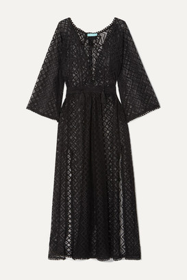 Melissa Odabash Nina Tie-detailed Crocheted Stretch-lace Kaftan