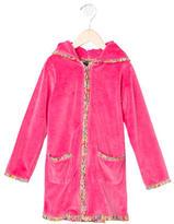 Oscar de la Renta Girls' Zip-Up Robe