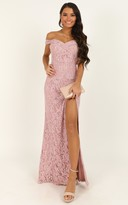 Showpo Tell It To The World Dress In blush lace - 8 (S) Dresses