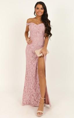 Showpo Tell It To The World Dress In blush lace - 4 (XXS) Dresses