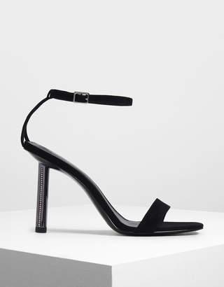 Charles & Keith Gem Encrusted Blade Heel Sandals