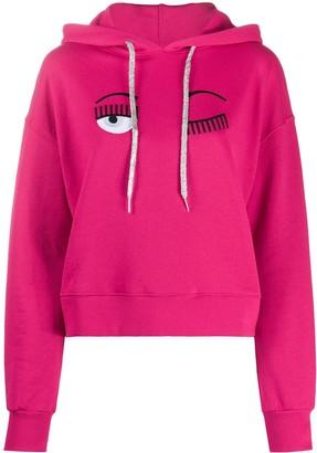 Chiara Ferragni Flirting logo cotton hoodie