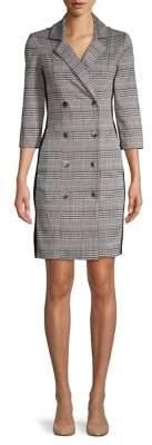 Gabby Skye Plaid Double-Breasted Shirtdress