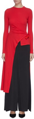 Rosetta Getty Asymmetric drape waist tie wrap top