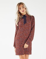 Fashion Union Animal Print Shirt Dress